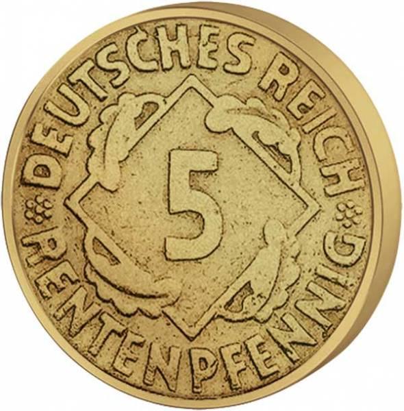 5 Pfennig Weimarer Republik Ähren 1923-1924 Sehr schön