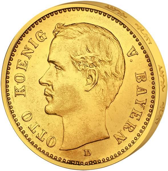 10 Mark Bayern Otto 1900-1912 Sehr schön