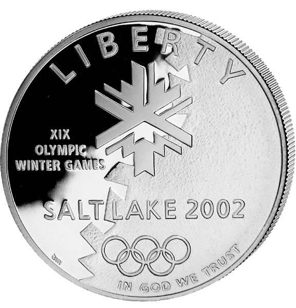 1 Dollar USA Olympiade Salt Lake City 2002 Polierte Platte (PP)