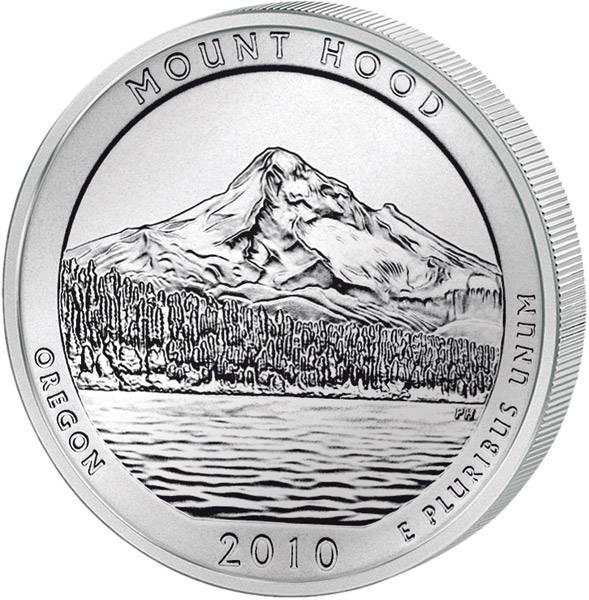 Quarter Dollar USA Oregon Mount Hood 2010