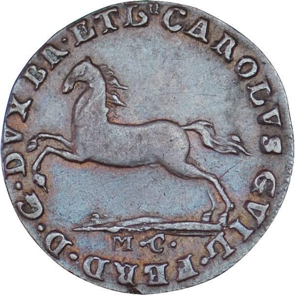 1 Pfennig Braunschweig-Wolfenbüttel Karl Wilhelm Ferdinand 1780 ss-vz