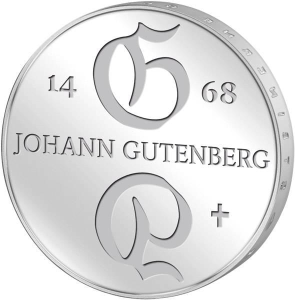 10 Mark  Johann Gutenberg  1968 A Stempelglanz