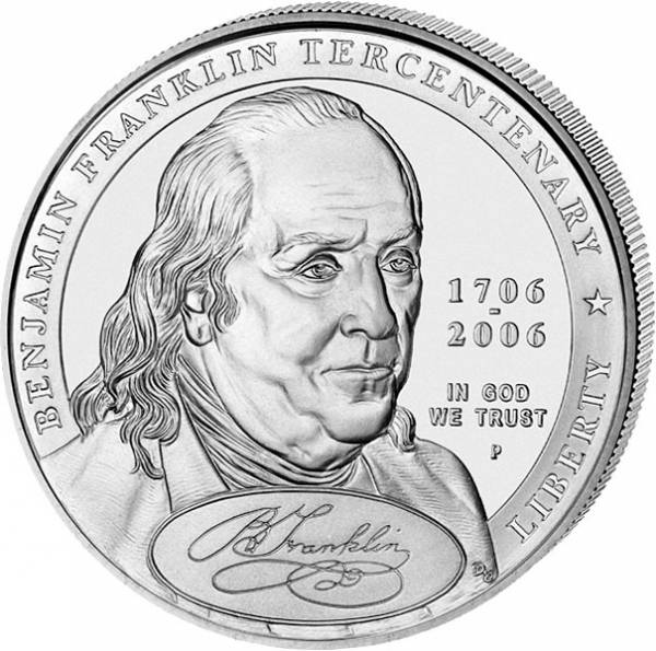 1 Dollar USA Benjamin Franklin Porträt