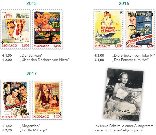 Briefmarken 2015, 2016, 2017 - Inklusive