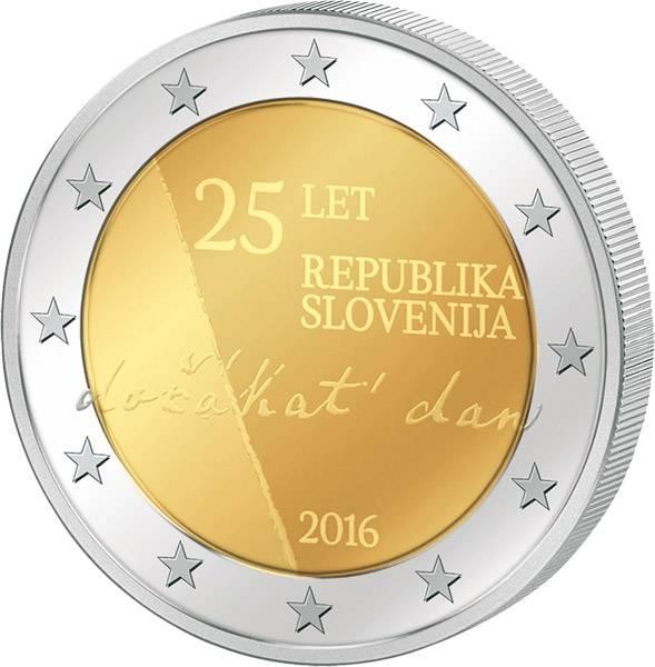 2 Euro Slowenien Unabhängigkeit der Republik Slowenien 2016 prägefrisch