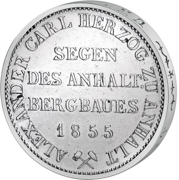 Taler Ausbeutetaler Alexander Carl 1846, 1852, 1855  ss-vz