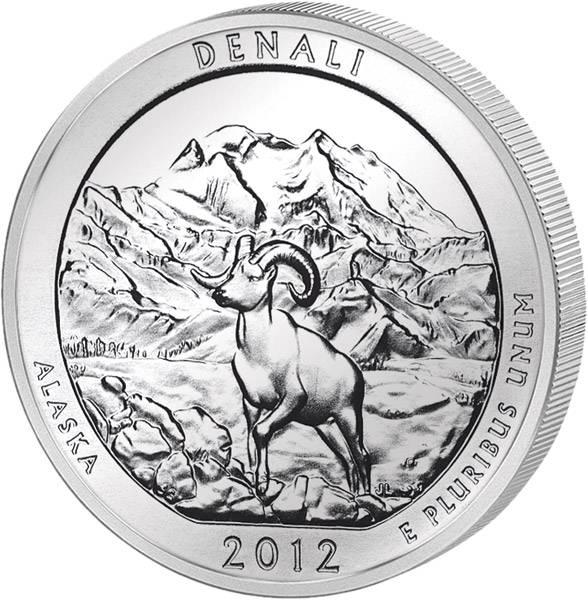 Quarter Dollar USA Alaska Denali 2012 prägefrisch
