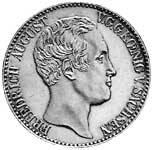 Konventionstaler Friedrich August II. 1836-37 Silber ss-vz