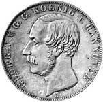 Taler Doppeltaler Georg V. 1854-1855  Vorzüglich