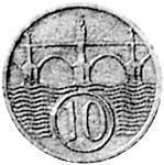 10 Haleru Böhmen/Mähren Brücke 1940-1944 Sehr schön