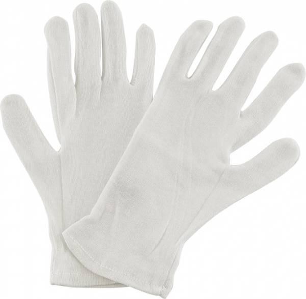 Trikot-Handschuh Baumwolle weiß
