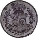 Sechsling Schleswig Holstein Gekröntes Wappenschild 1850-1851 ss-vz