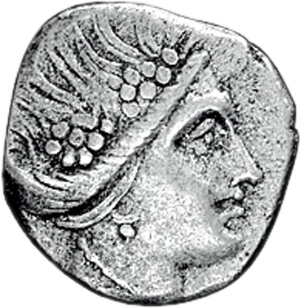 4 Obole Tetrobol Insel Euboia Stadt Histiaia 340-330 v.Chr. ss-vz