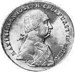 Taler Konventionstaler Maximilian Joseph 1803 Vorzüglich