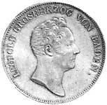 Ausbeute-Kronentaler Leopold Großherzog v. Baden 1836 Vorzüglich