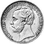 Taler Vereinstaler Nicolaus Peter 1858, 1860, 1866  ss-vz