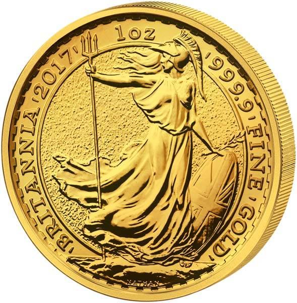 1 Unze Gold Großbritannien Britannia 2017