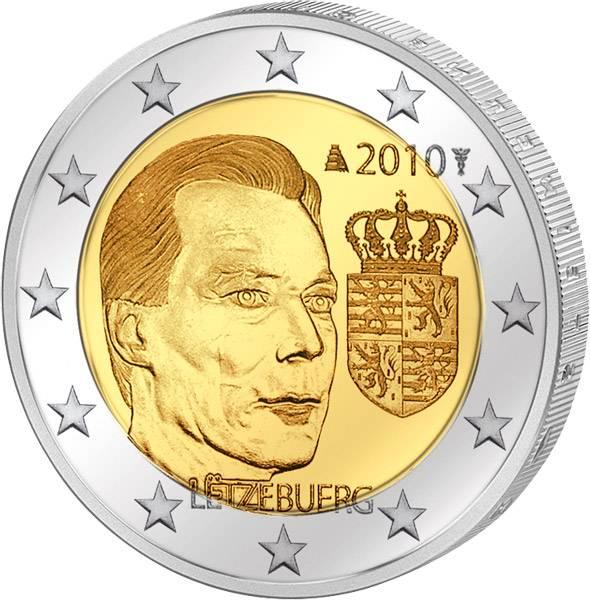 2 Euro Luxemburg Wappen Henri 2010 prägefrisch