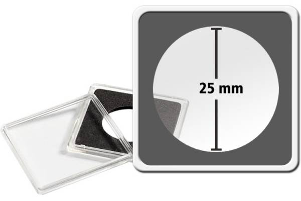 10er-Pack QUADRUM-Münzkapsel Durchmesser 25 mm