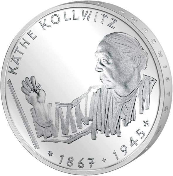 10 DM BRD  Käthe Kollwitz 1992 G vorzüglich