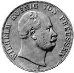 Vereinsdoppeltaler Preußen Wilhelm I. Silber 1865-1871 vz