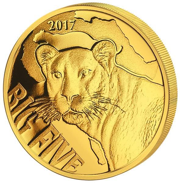 100 Francs Kamerun Big Five Leopard 2017