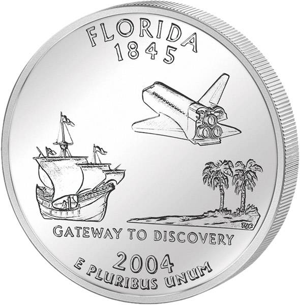 Quarter Dollar USA Florida 2004