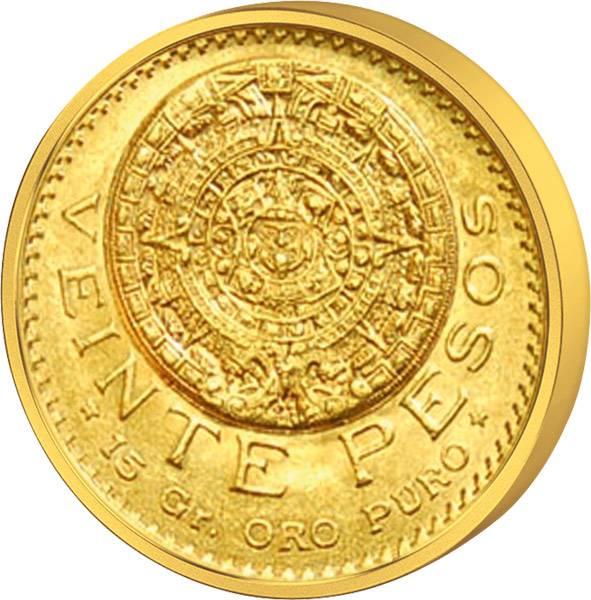 20 Pesos Mexiko Kalenderstein der Azteken