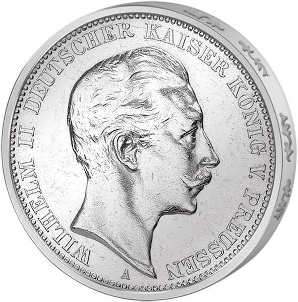 5 Mark Preußen Kaiser Wilhelm II. 1891-1908 Sehr schön