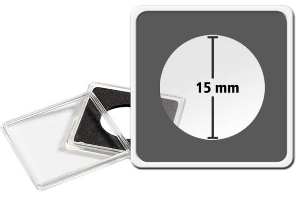 10er-Pack QUADRUM-Münzkapsel Durchmesser 15 mm