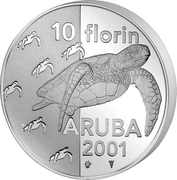 10 Florin Aruba Suppenschildgröte